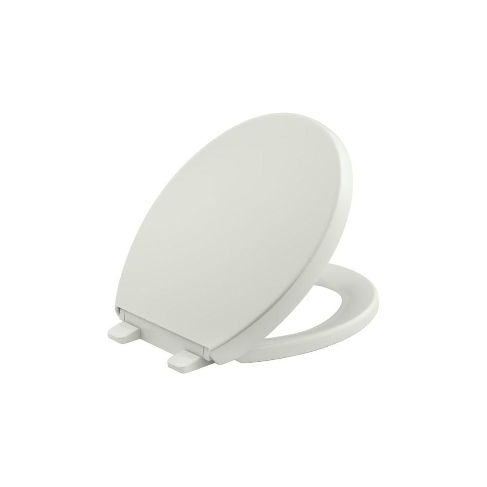 Kohler Reveal Quiet Close Round Closed Front Toilet Seat With Grip