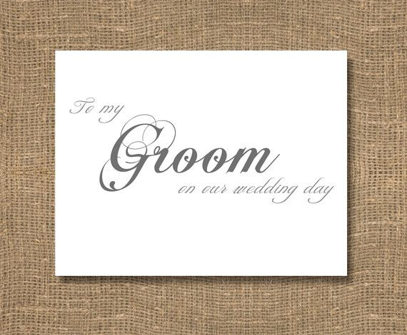 to my groom on our wedding day card by rockcandiedesigns on etsy