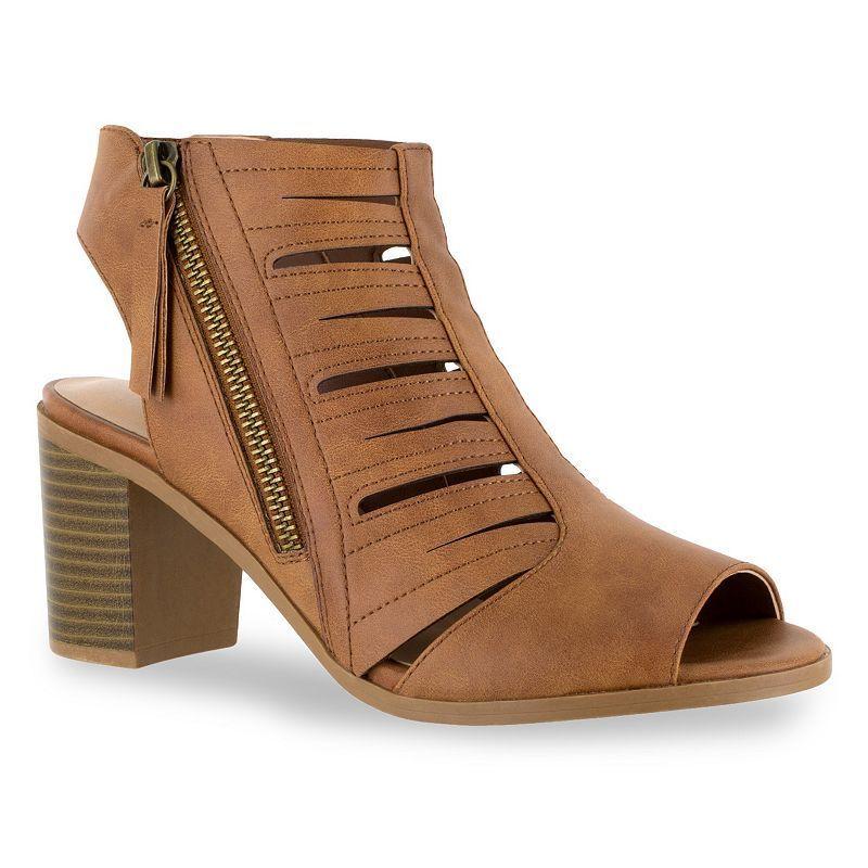 8639429dfec Dark brown · Easy Street Karlie Women s Stacked-Heel Sandals ...