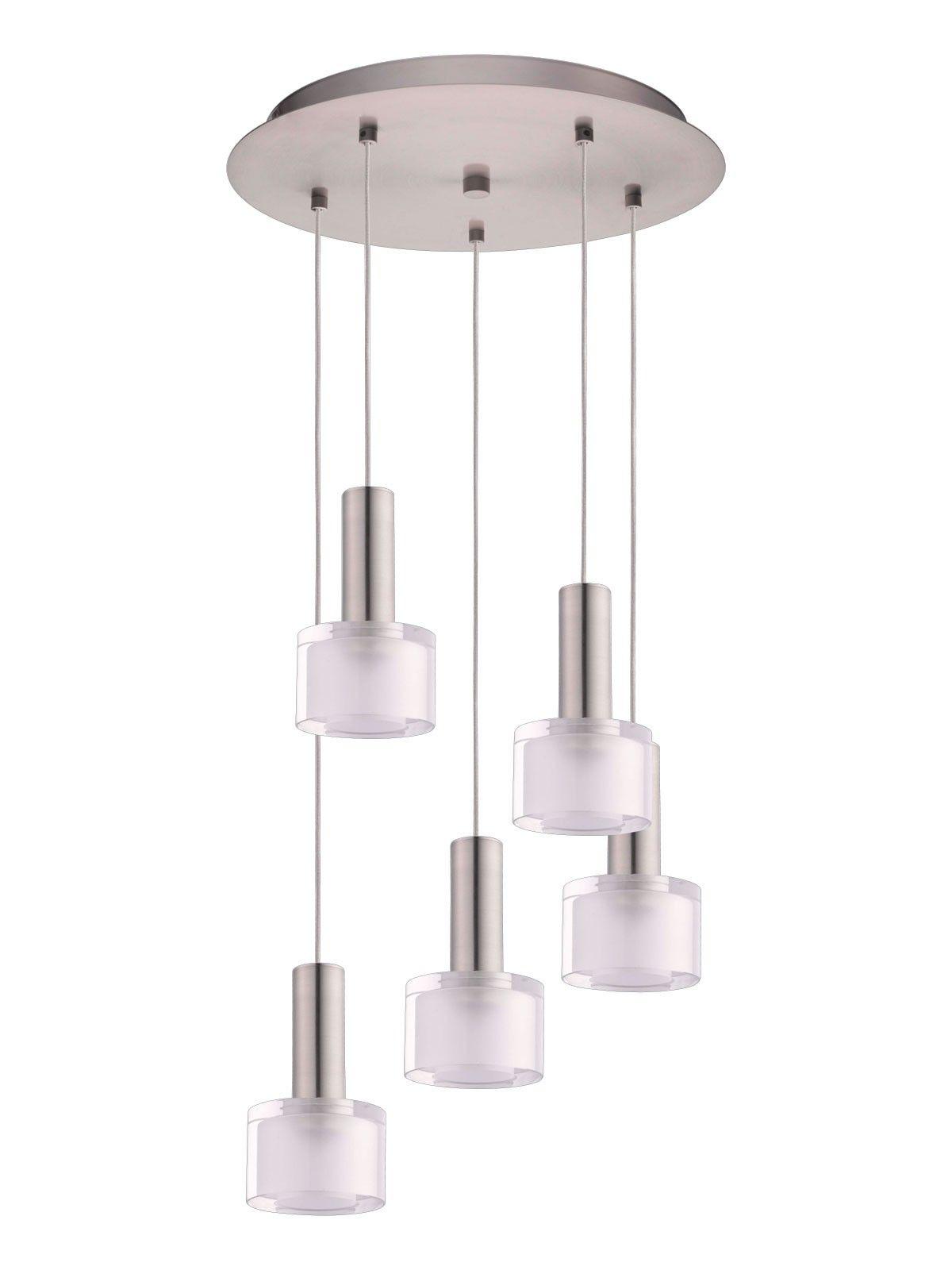 Pharos 5 light led pendant in brushed chrome lighting pinterest pharos 5 light led pendant in brushed chrome arubaitofo Gallery