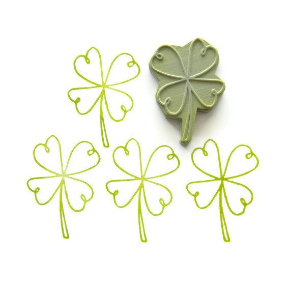 I love this simple line graphic of a four-leaf clover and ...