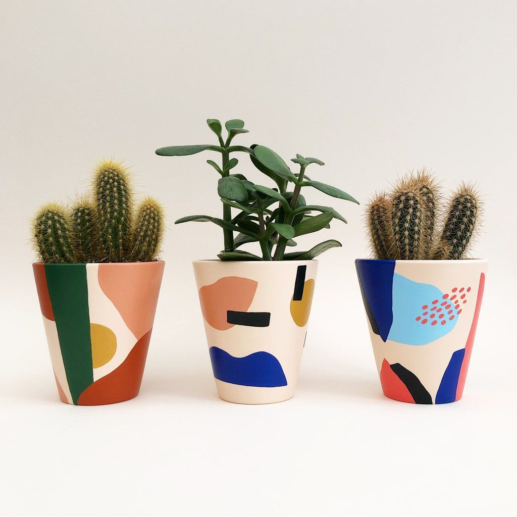 Medium Painted Pot - Ceramics, Decoration, Homewares, Patterns & Shape, Shop By Theme - The Red Door Gallery | Art Prints | Design Products | Creative Gifts