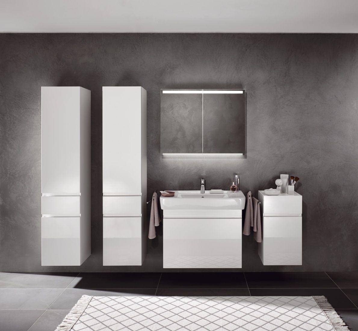 Hoge kasten voor badkamer, wastafel, onderkast voor wastafel en ...