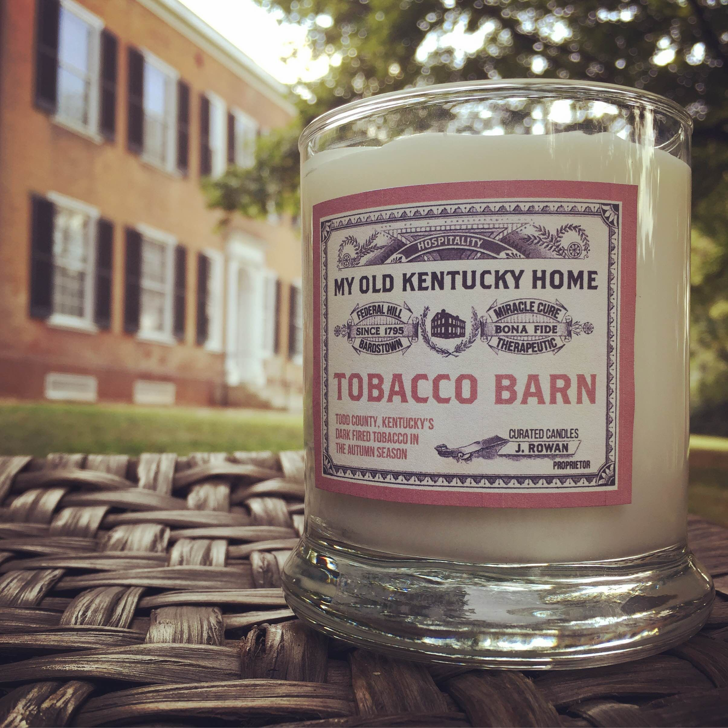 Dark fired tobacco barn candle my old kentucky home