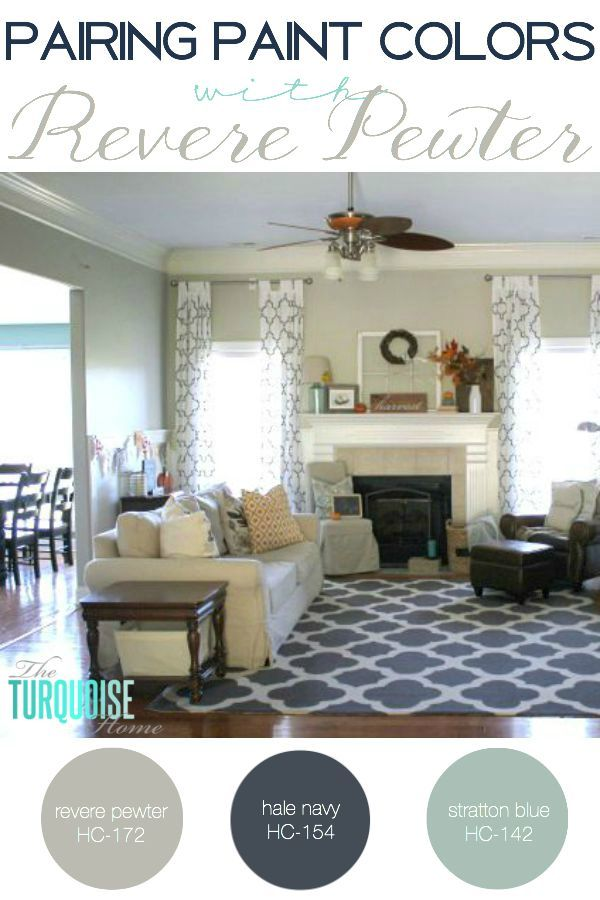 Pairing Paint Colors With Revere Pewter The Turquoise Home Perfect Grey Paint Room Colors Home
