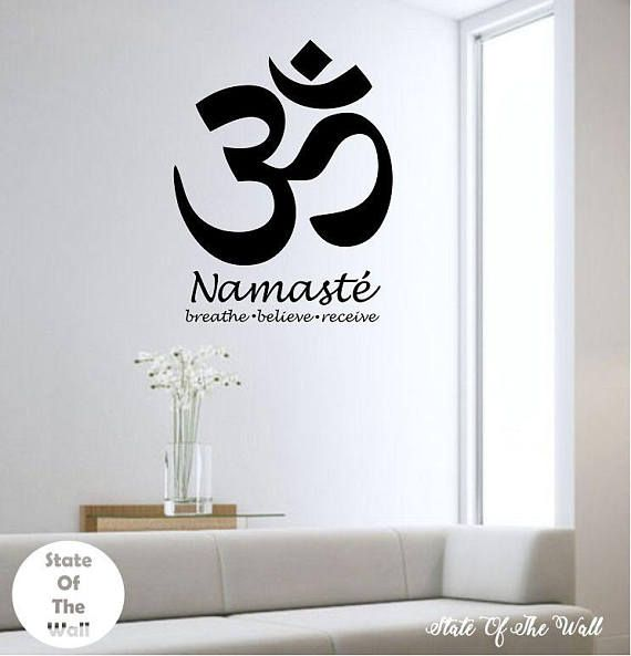 Om Wall Decal Sticker Art Decor Bedroom Design Mural Buddah | WALL ...