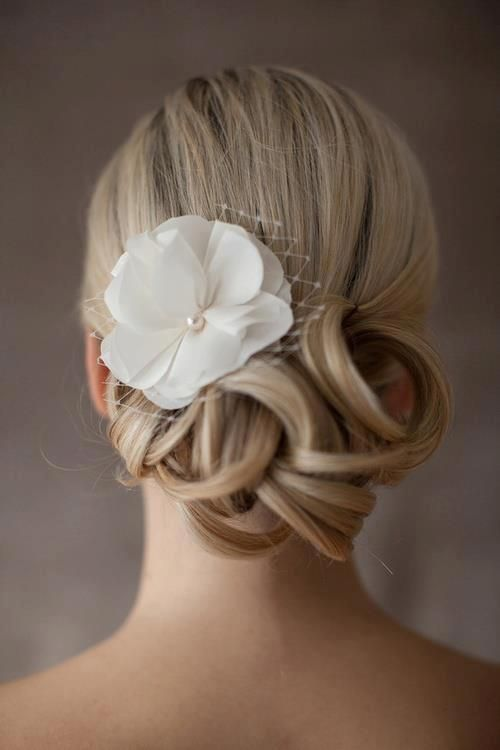 curled floral up-do