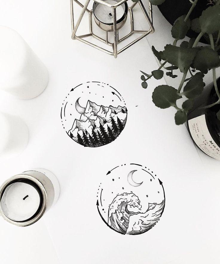 Photo of Einfache Berge und Meer – Designs für morgen. Hab einen schönen Sonntag! –  – …