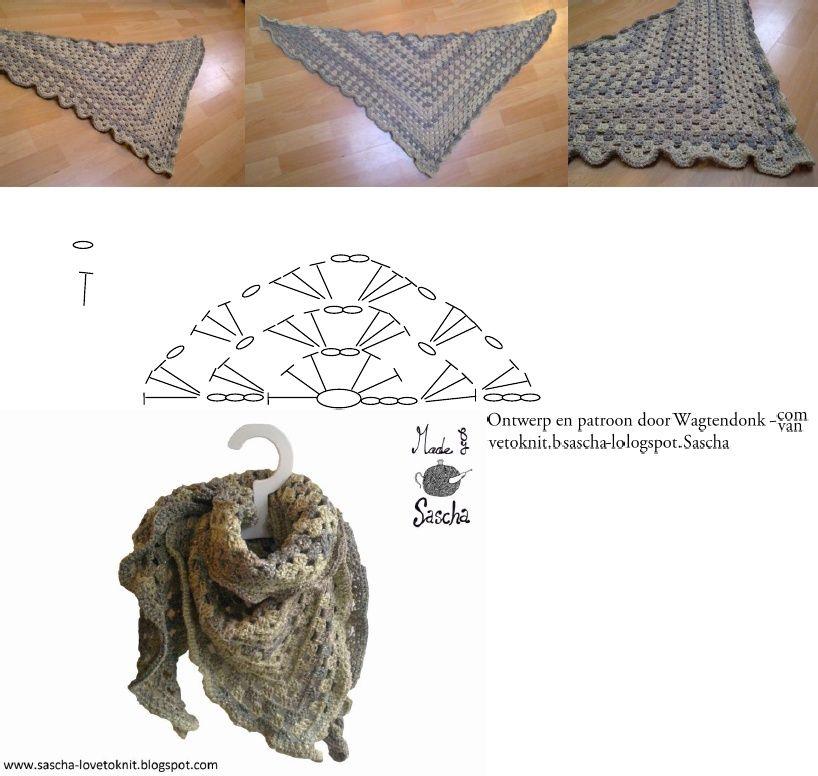 Crochet Shawl Pattern | Patrones ganchillo/ Crochet Patterns ...