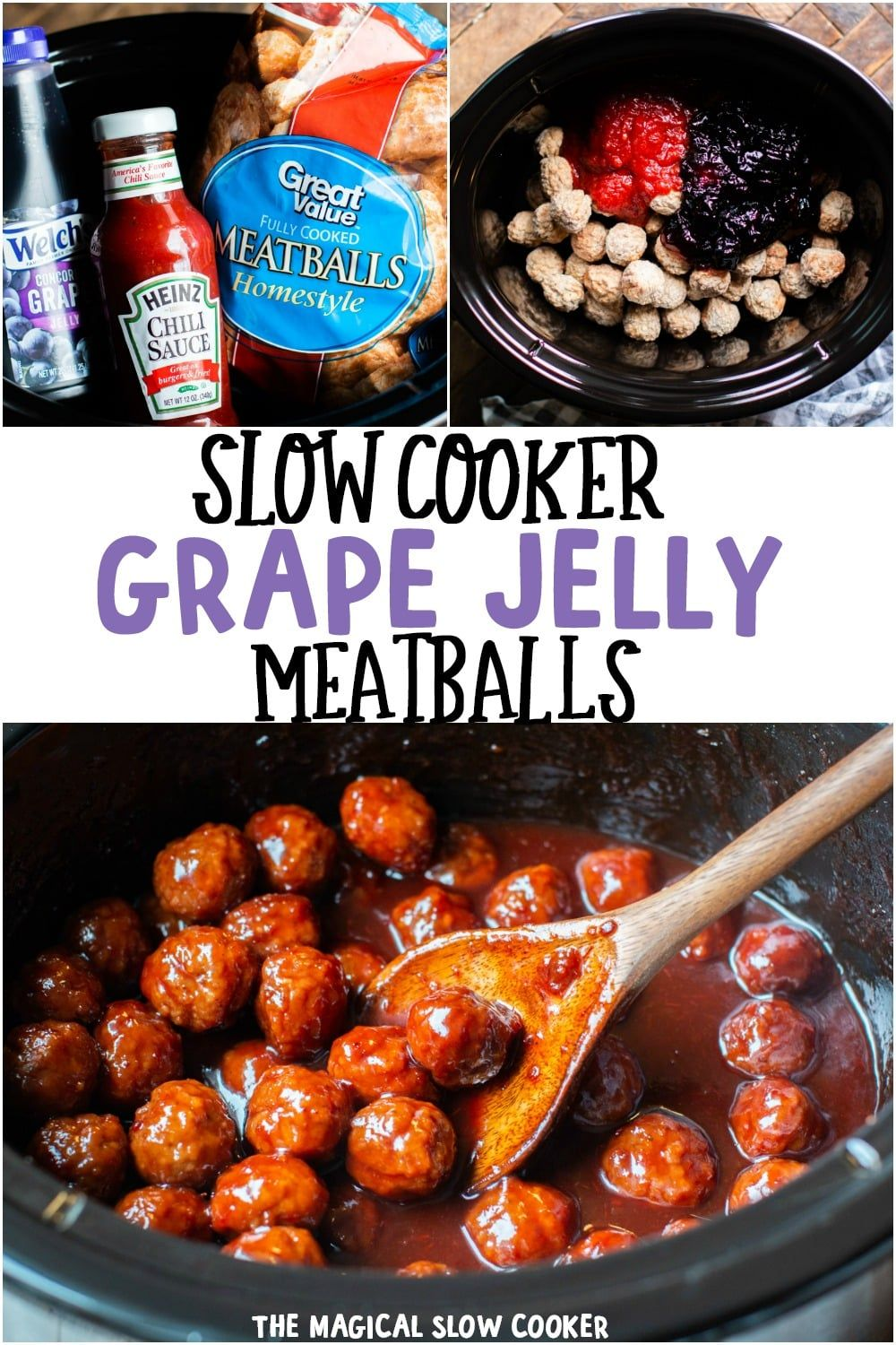 Photo of Slow Cooker Grape Jelly Meatballs – The Magical Slow Cooker