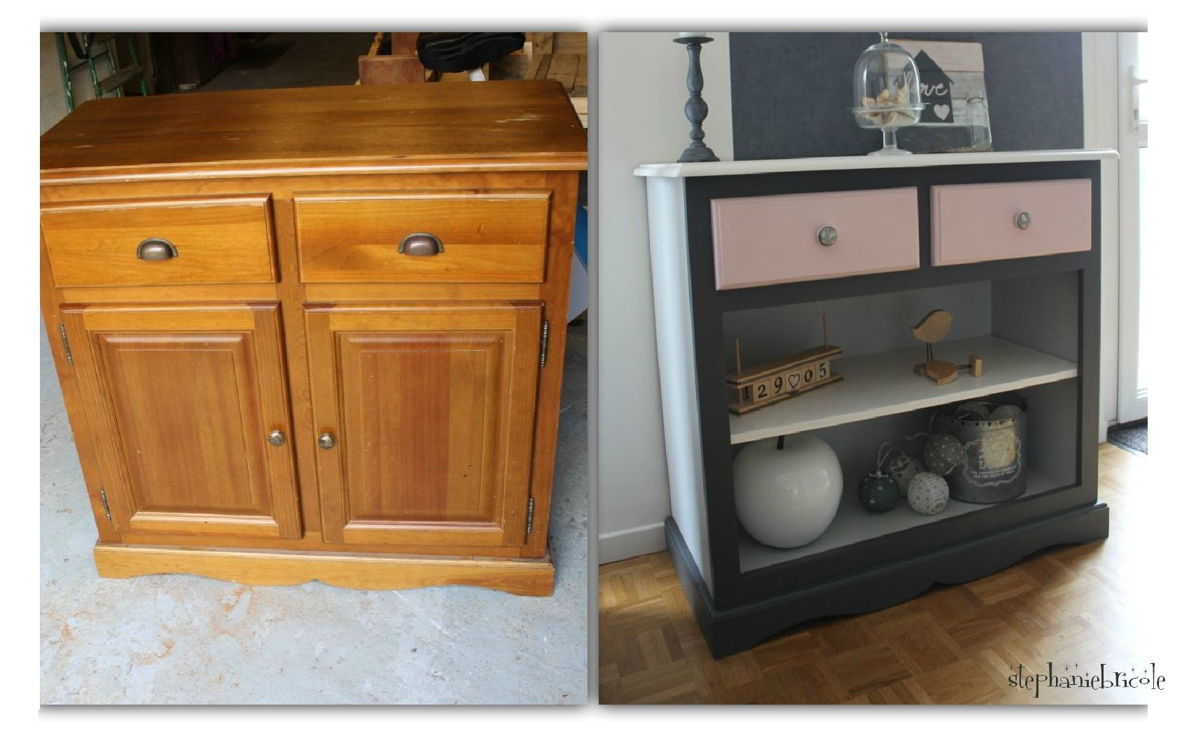 Diy R Cup Id E Relooking Transformation De Meubles Buffet  # Relooker Meuble Expedit Ikea