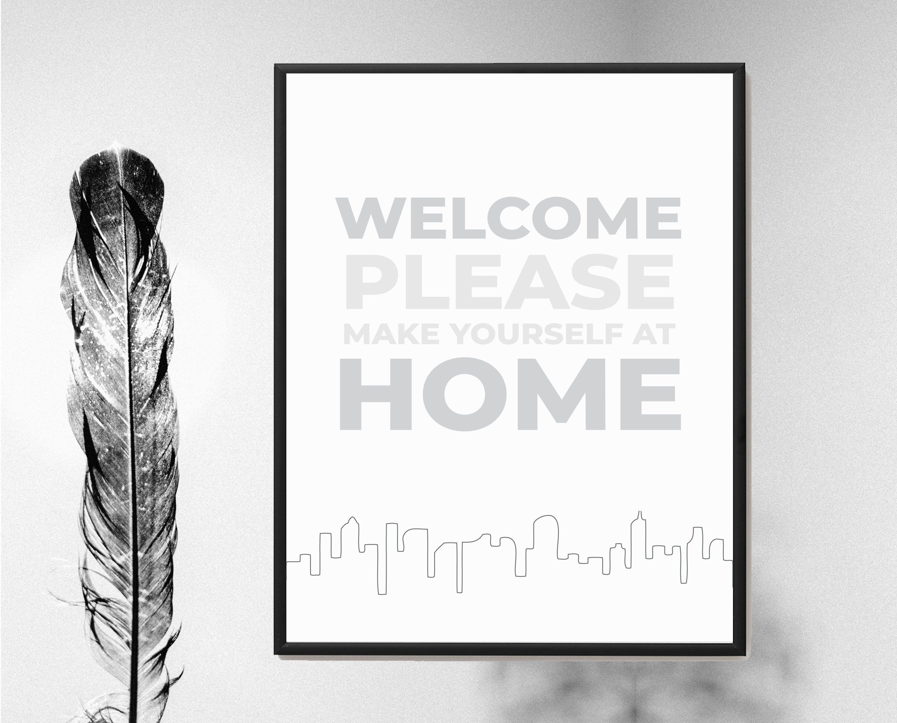 Airbnb Printable House Welcome Sign | Airbnb Welcome Sign ...
