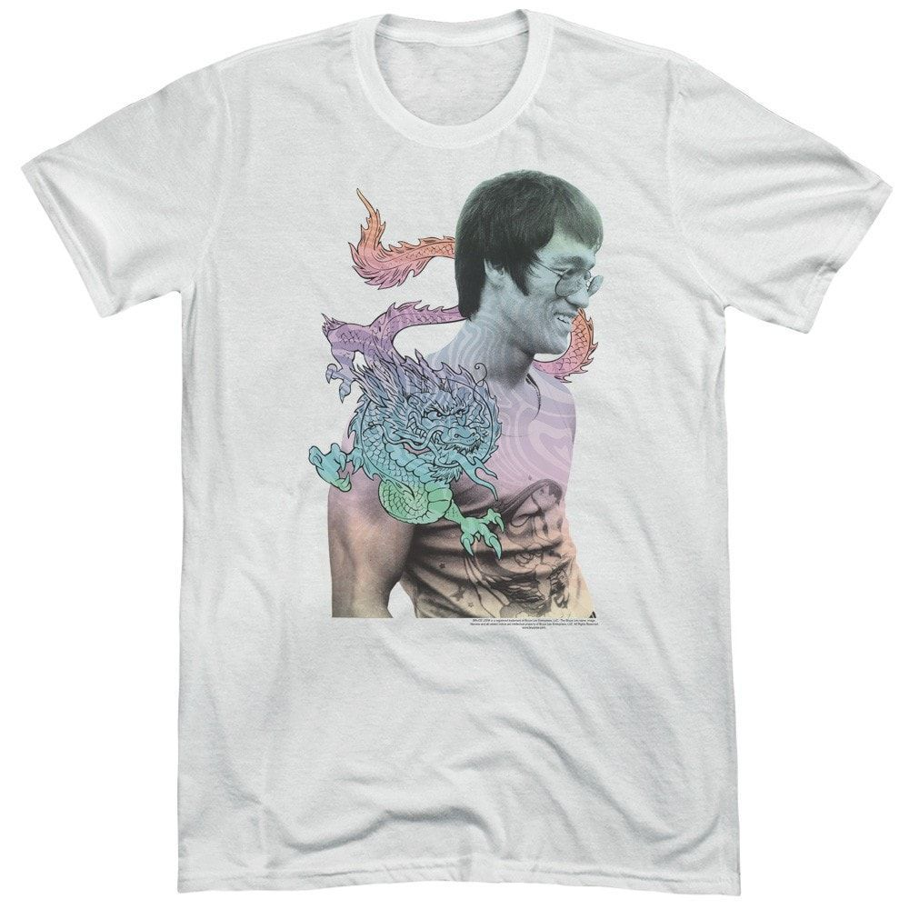 Bruce Lee A Little Bruce Adult Tri-Blend T-Shirt
