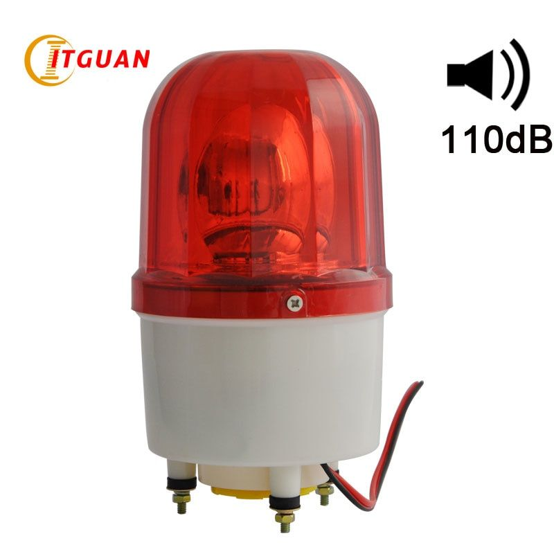 LTE-1101K Bulbs Rotating Warning Light With Buzzer Sound