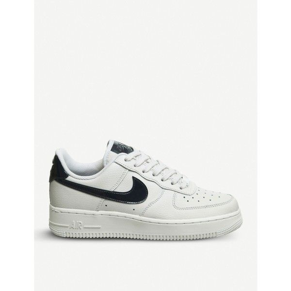 finest selection e9396 eba65 NIKE Air Force 1 07 leather trainers (€85) ❤ liked on Polyvore featuring