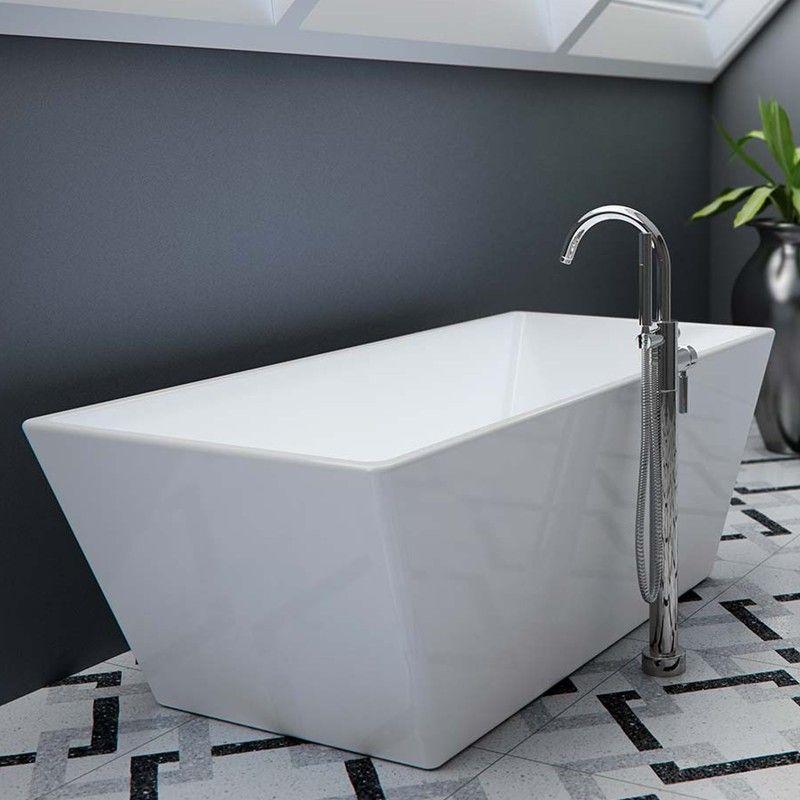 Installing A Freestanding Bathtub Faucet In 2020 Bathtub Faucet