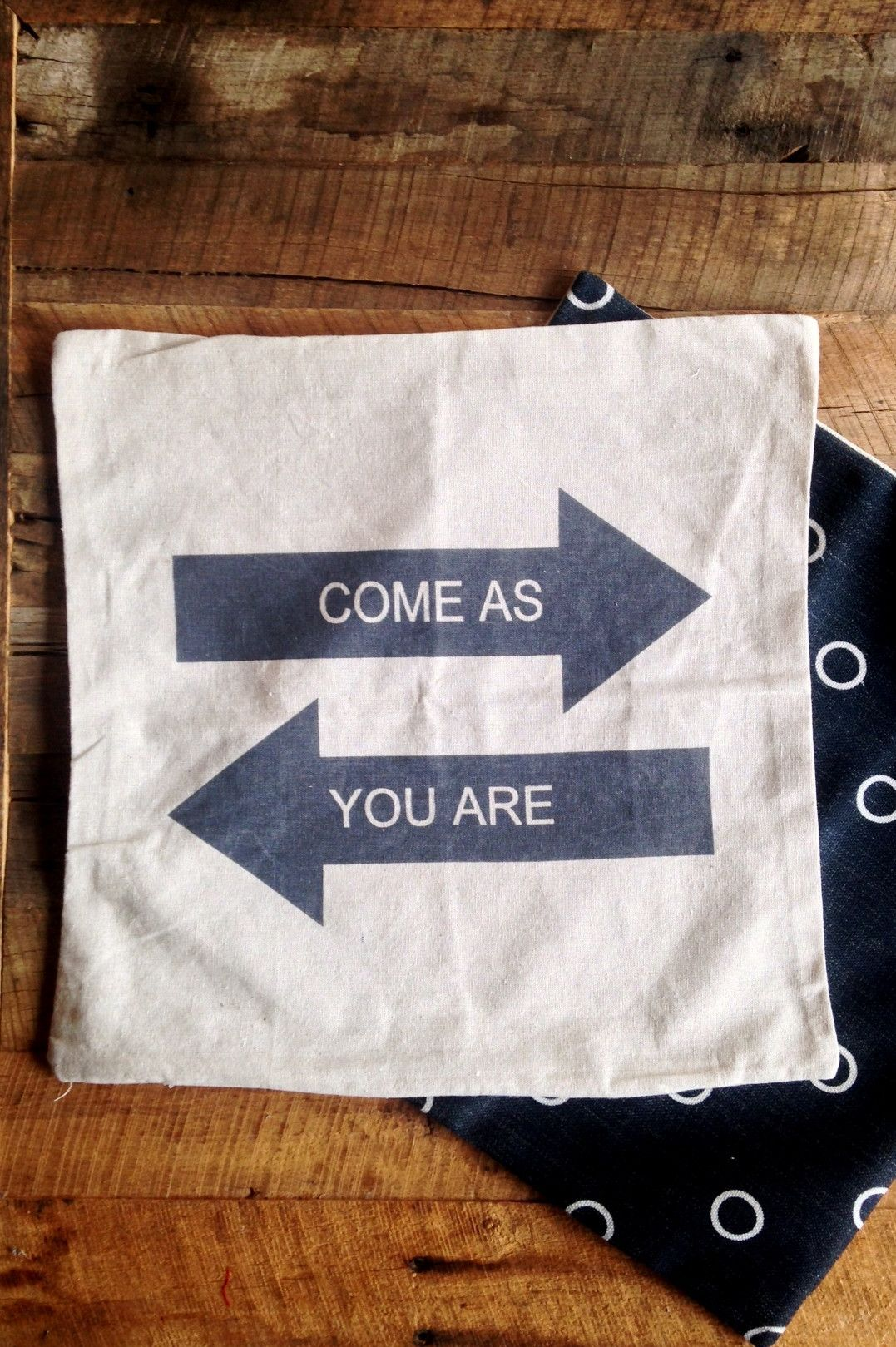 Come As You Are Arrow Pillow Cover