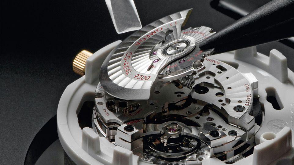 Bộ chuyển động đồng trục Co-Axial trên đồng hồ Omega