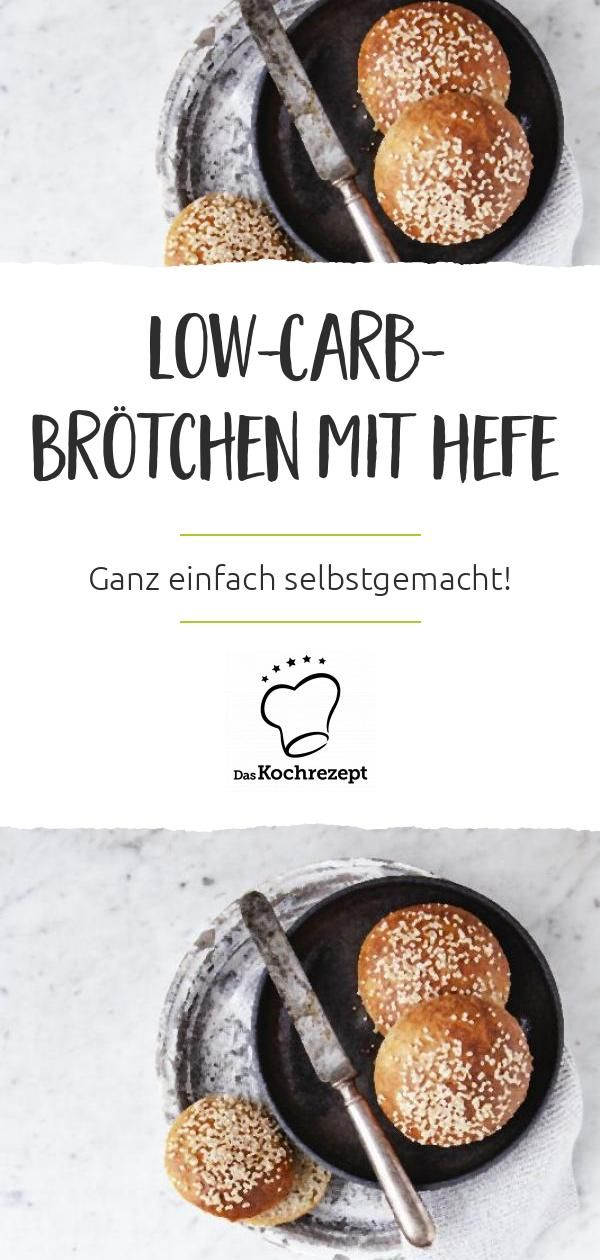 Low-Carb-Brötchen mit Hefe