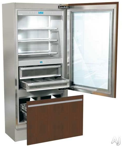 36 Wide Counter Depth Refrigerator With A Glass Door Holy Cow