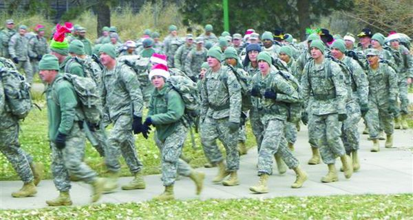 Ft. Carson 1st Brigade Combat Team Marches on Marian House ...