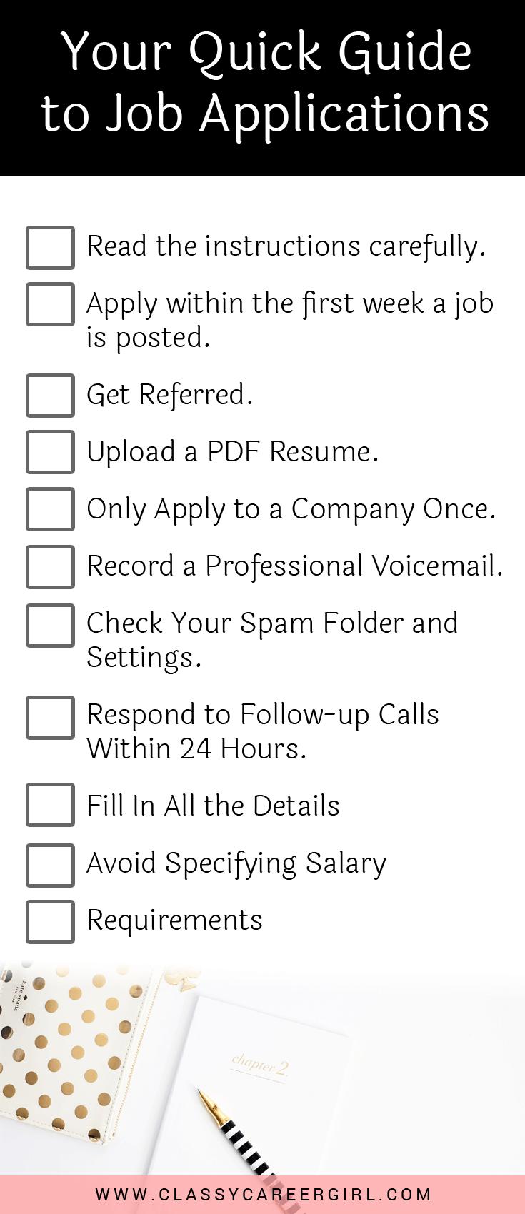 A Quick Guide To Online Job Applications Online Job Applications