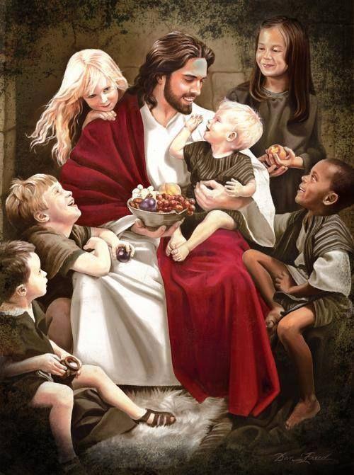"""said """"Suffer the little children to come unto Me """"Artwork Christ"""