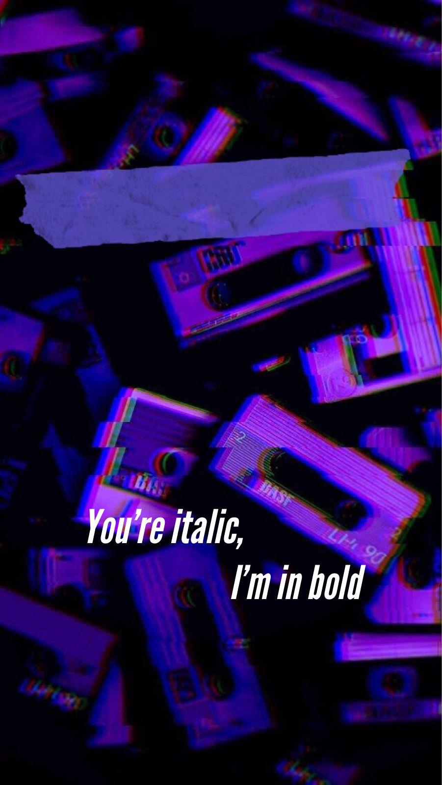 Billie Eilish Lyrics Dark purple aesthetic, Purple