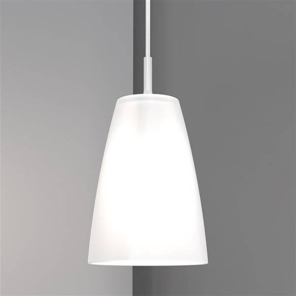 hanglamp wit glas conisch e27 180mm diameter verlichting pinterest