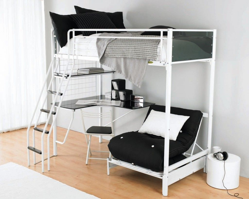 Loft bed with desk full size mattress  Pin by Shawna Lee  on Lofts  Pinterest  Lofts