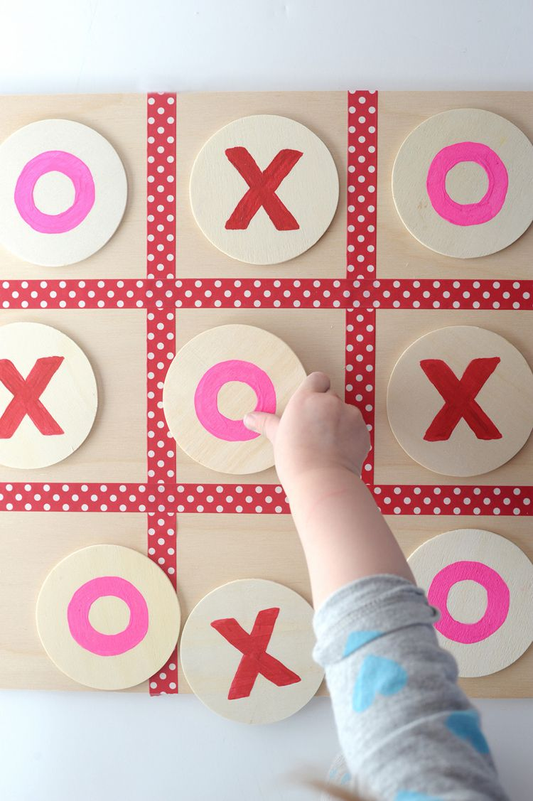 spiele-selber-machen-tic-tac-toe-diy-kinderspiel #kinderspiel