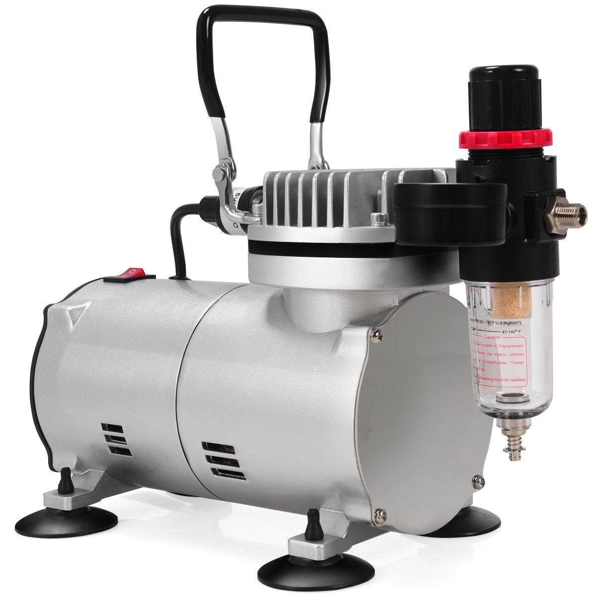 3 Compressor Kit DualAction Spray Air Brush Set