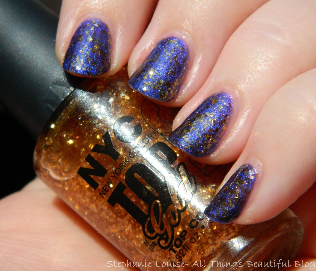 NYC Nail Polish in Top of the Gold Top Coat Swatches & Review ...