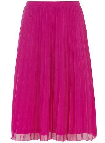 bda711af08 Fuschia Mesh Pleat Midi Skirt - Dorothy Perkins | Skirts | Pleated ...