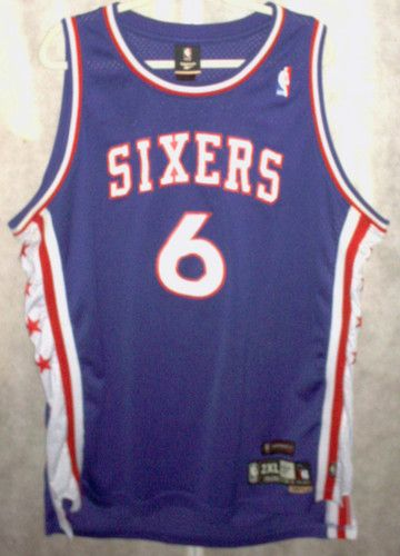 9dbc36e0a94  6 JULIUS ERVING (Dr. J) Philadelphia 76ers NBA Forward 1976-1987 Blue  Throwback Jersey.