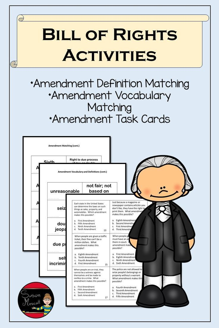 Bill of rights activities teaching middle school lesson