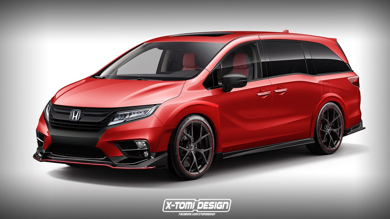 Honda Odyssey Type R Would Make The School Run A Lot More Exciting Carscoops Honda Odyssey Honda Odyssey Touring Mini Van