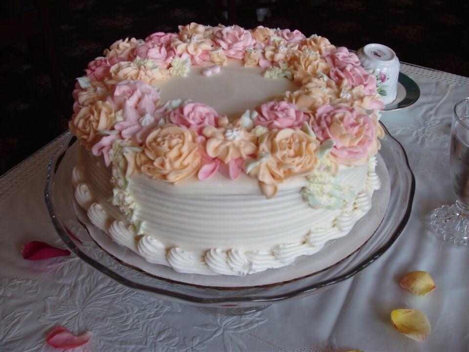 Victorian Rose Cake | Cake designs birthday, Rose cake, Cake designs