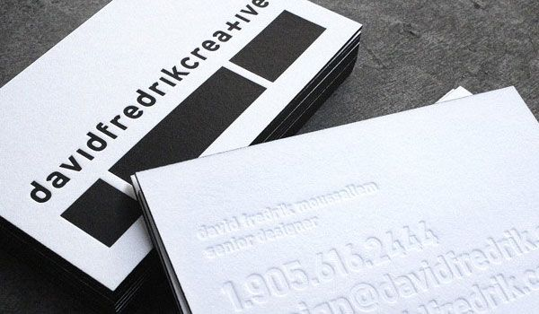 Creative letterpress business card graphic design pinterest creative letterpress business card reheart Image collections