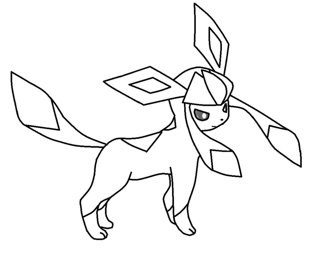 Pokemon Glaceon Coloring Pages Coloring Pages Pokemon Coloring