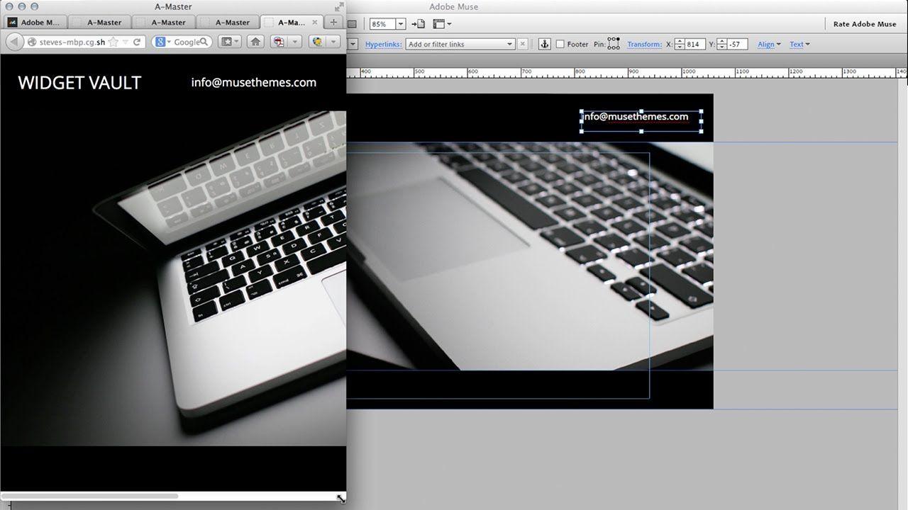 MuseThemes com - Building the Widget Vault | Adobe Muse