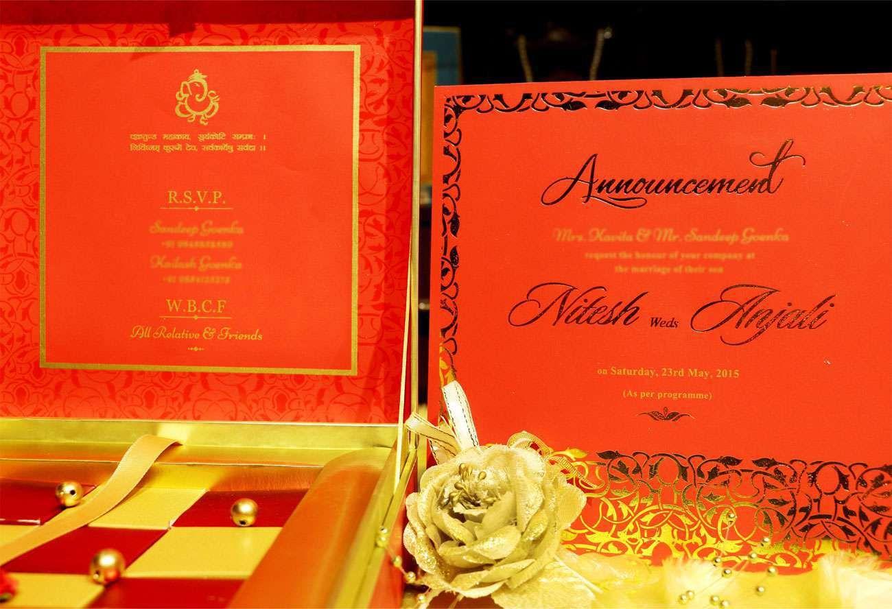VWI - New Delhi -RED-METALVWI-10032 - #Wedding #card #designer ...