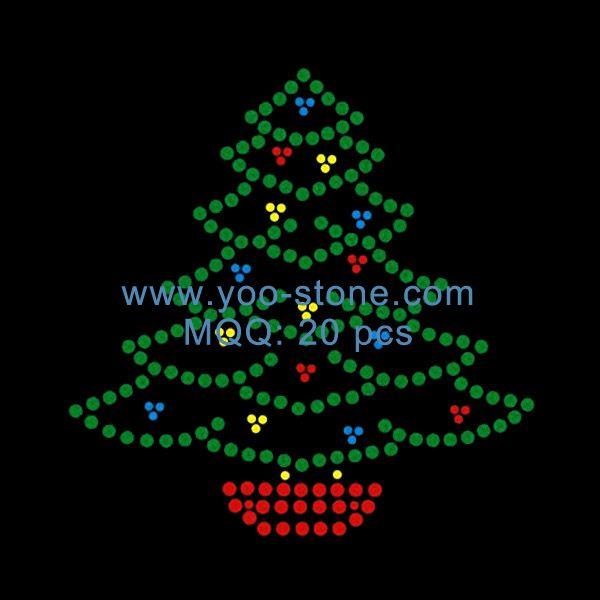 Rhinestone Christmas Tree Motif Design For Garment Christmas Mandala Rock Painting Designs Dot Painting