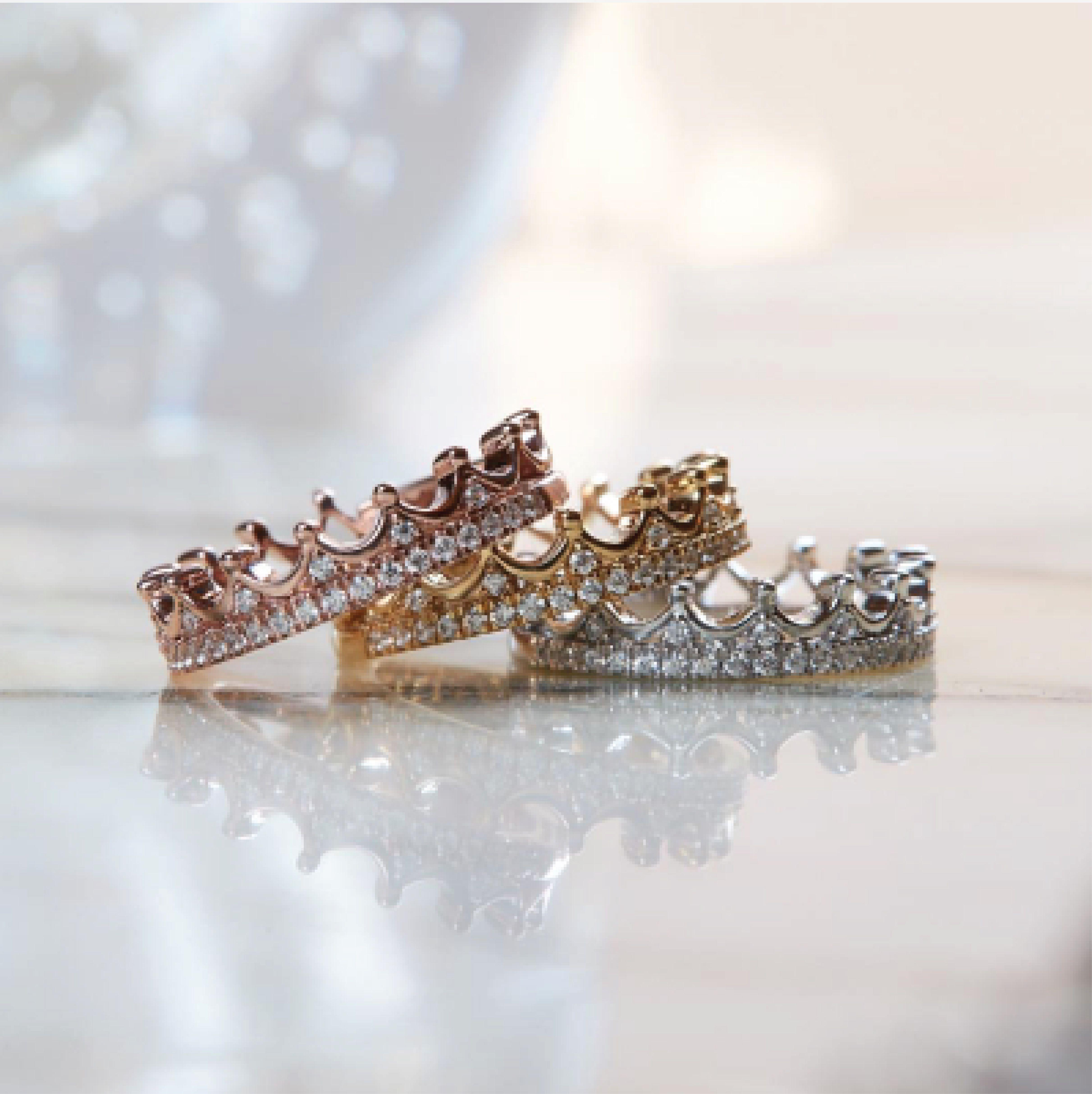 Enchanted Disney Princess 1 6 Ct T W Diamond Tiara Wedding Band In 14k White Gold Zales Diamond Tiara Wedding Diamond Wedding Bands Diamond Tiara