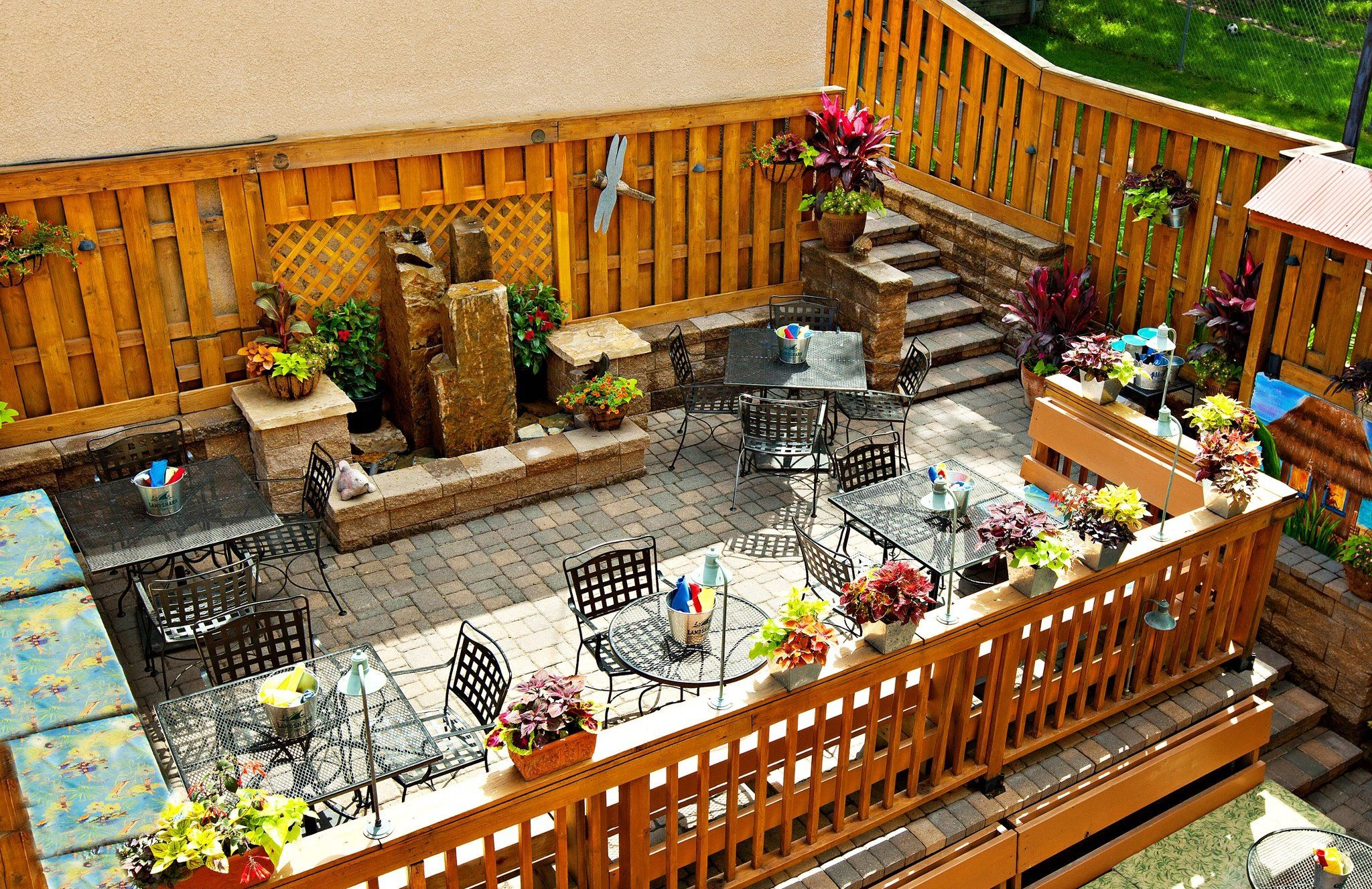 San Pedro Cafe Hudson Wi Outside Patio Dining Area Favorite
