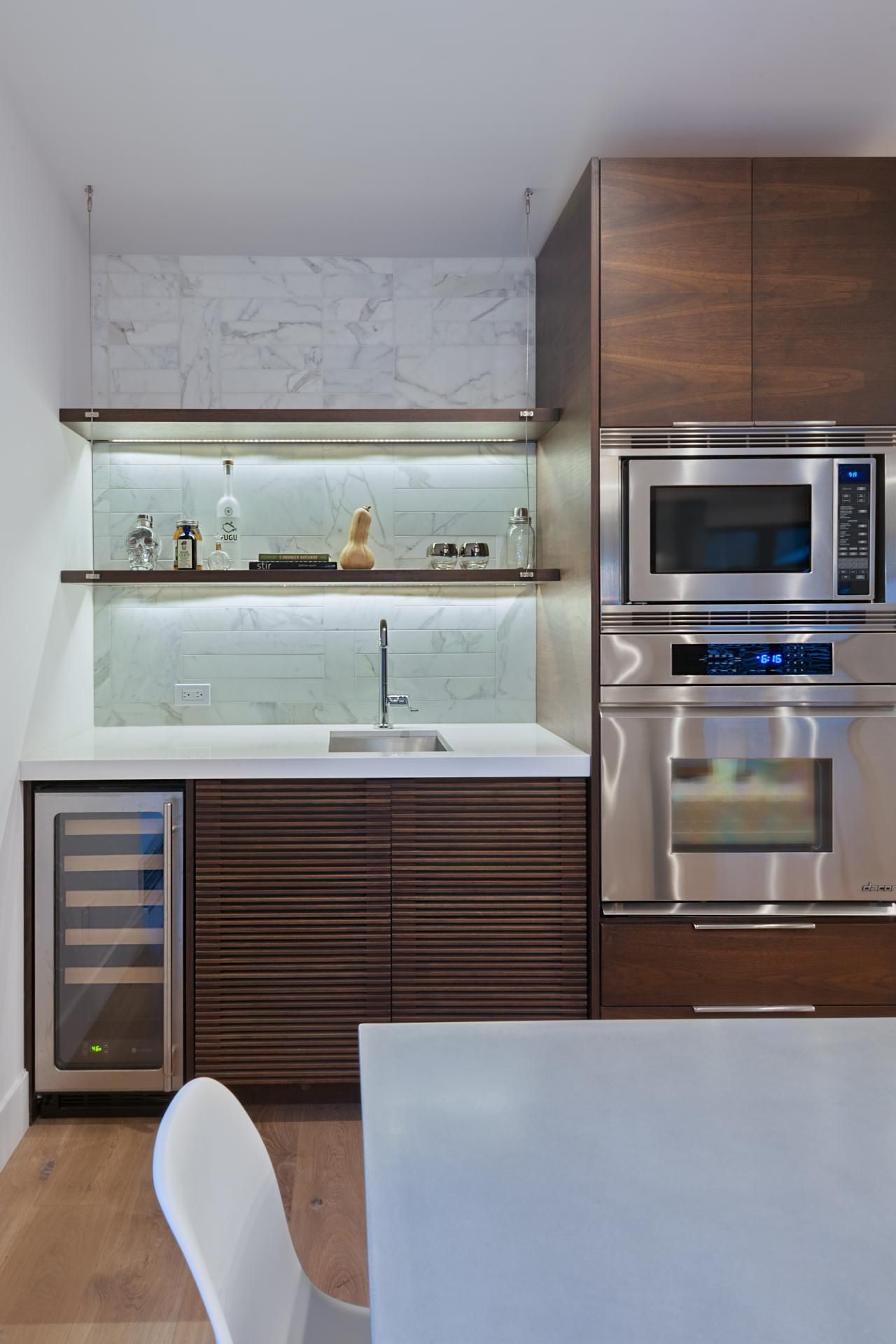 Sleek Midcentury Modern Party Pad | Wet bars, Wine coolers and ...