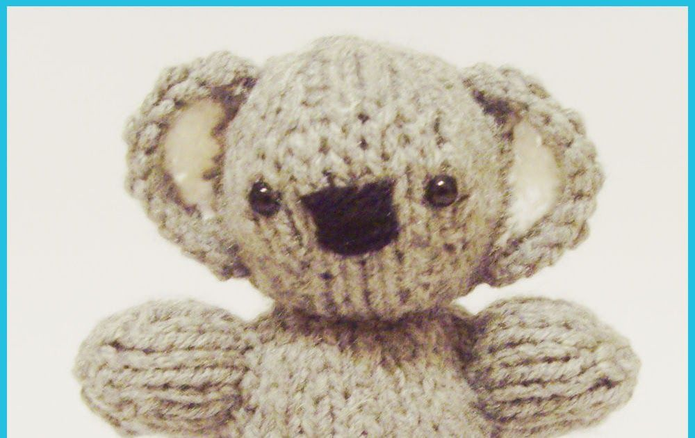 Knitted Toy Box Koala Baby Piquiote Cast On Pinterest Free