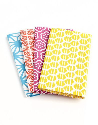 Love the colour and pattern mix on these Distinctly Home Printed Cotton Napkins.
