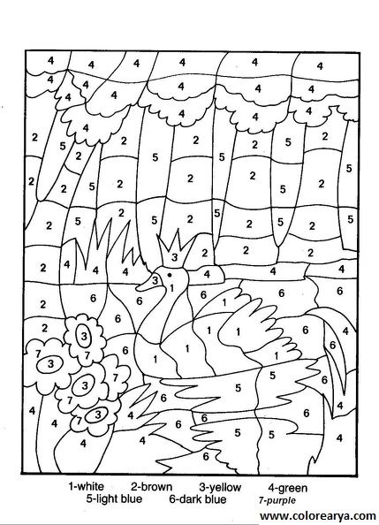 Dibujos Para Colorear Segun Numeros Imagui Dibujos Con Numeros