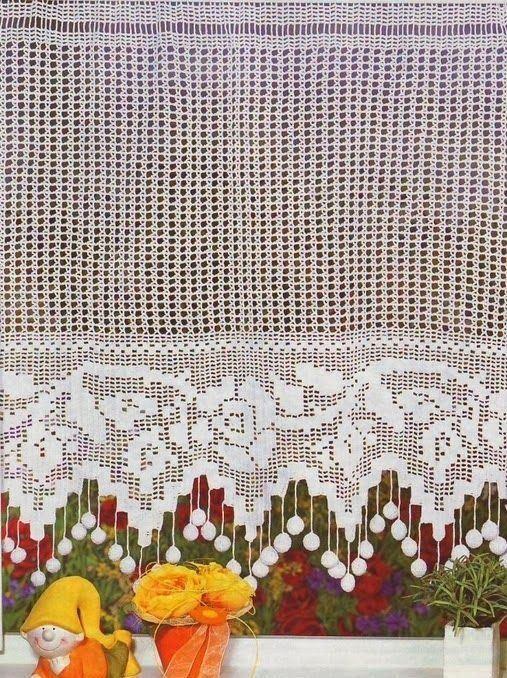 95 modelos de cortinas de crochê e passo a passo